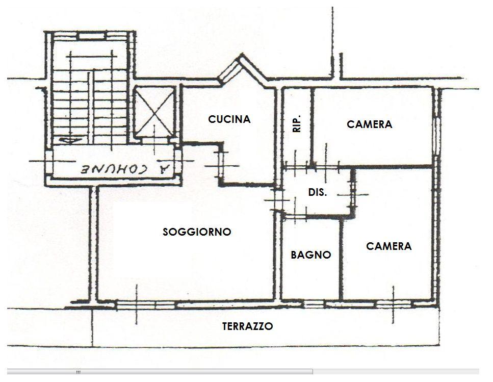 Planimetria /1 per rif. 3407