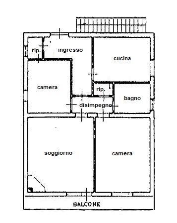 Planimetria /1 per rif. 3422