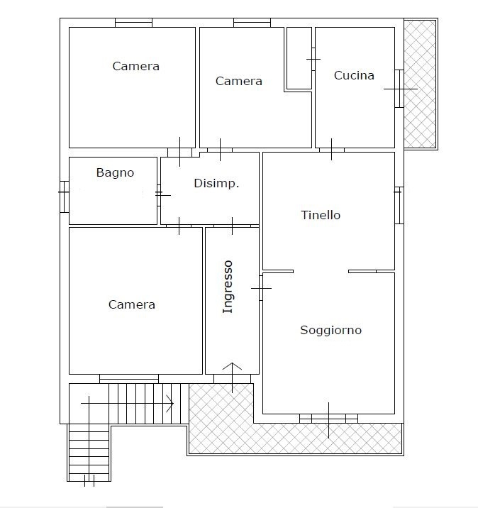 Planimetria 2/3 per rif. 3553