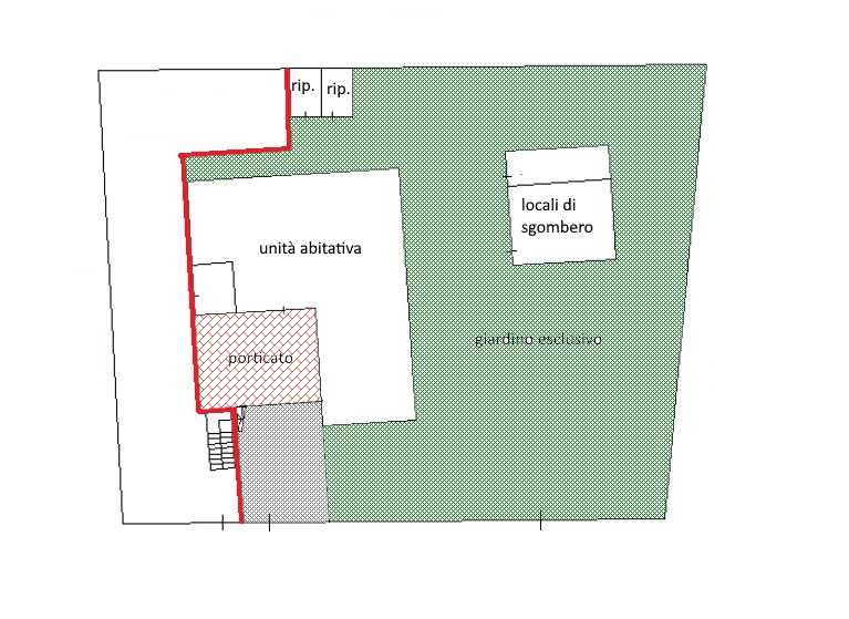 Planimetria 1/2 per rif. 3606