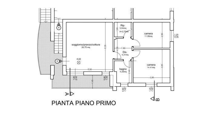Planimetria /1 per rif. 3687