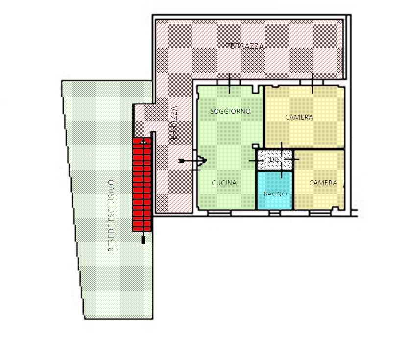Planimetria /1 per rif. 3695