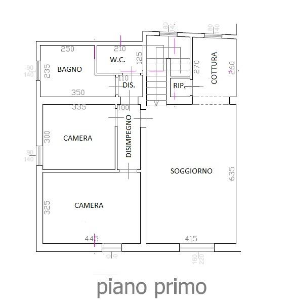 Planimetria /1 per rif. 3698