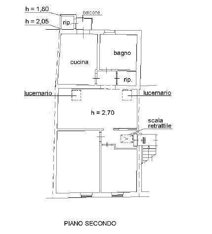 Appartamento in vendita, rif. P6030 (Planimetria 1/1)
