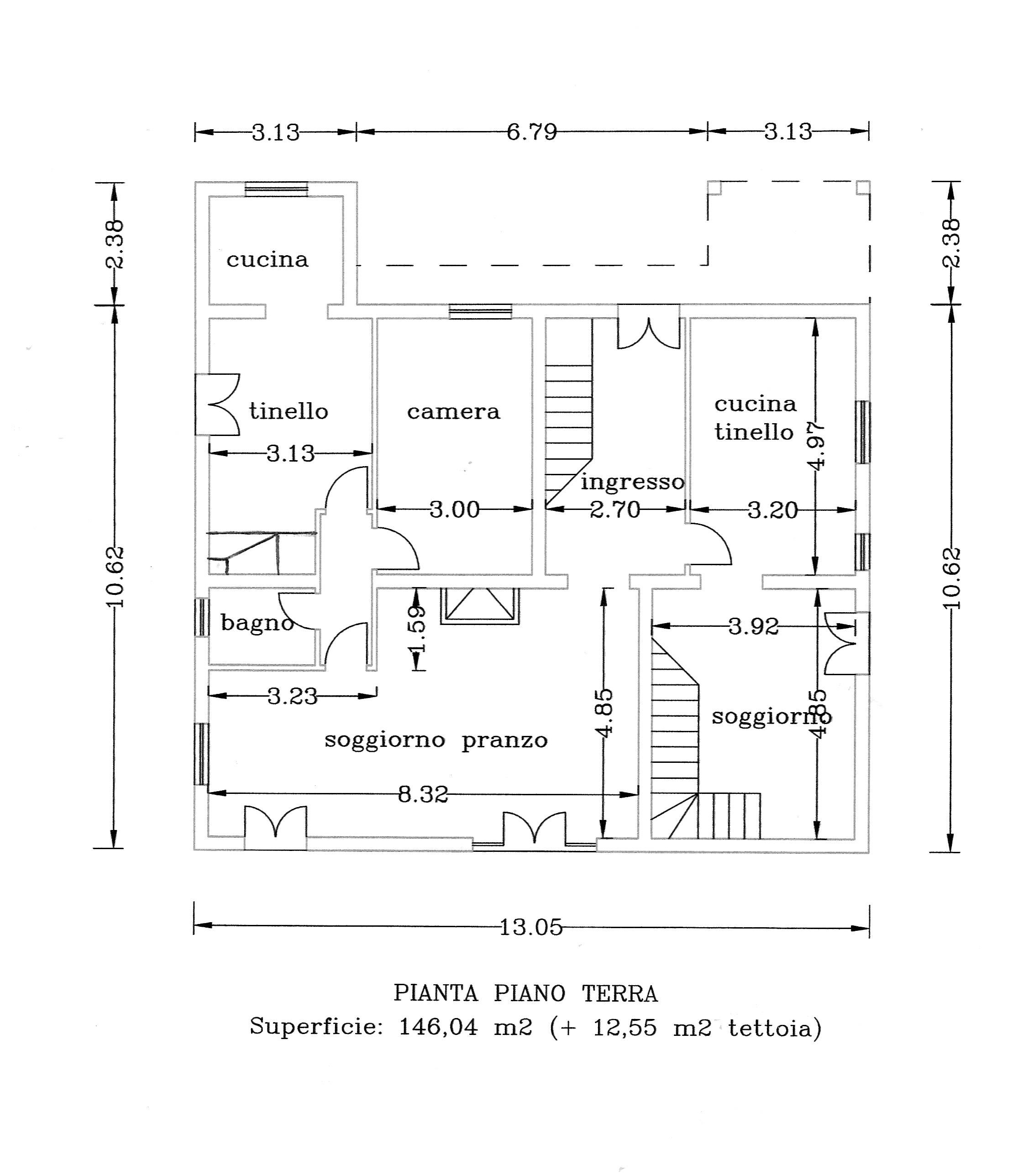Villa singola in vendita, rif. P6011 (Planimetria 1/4)