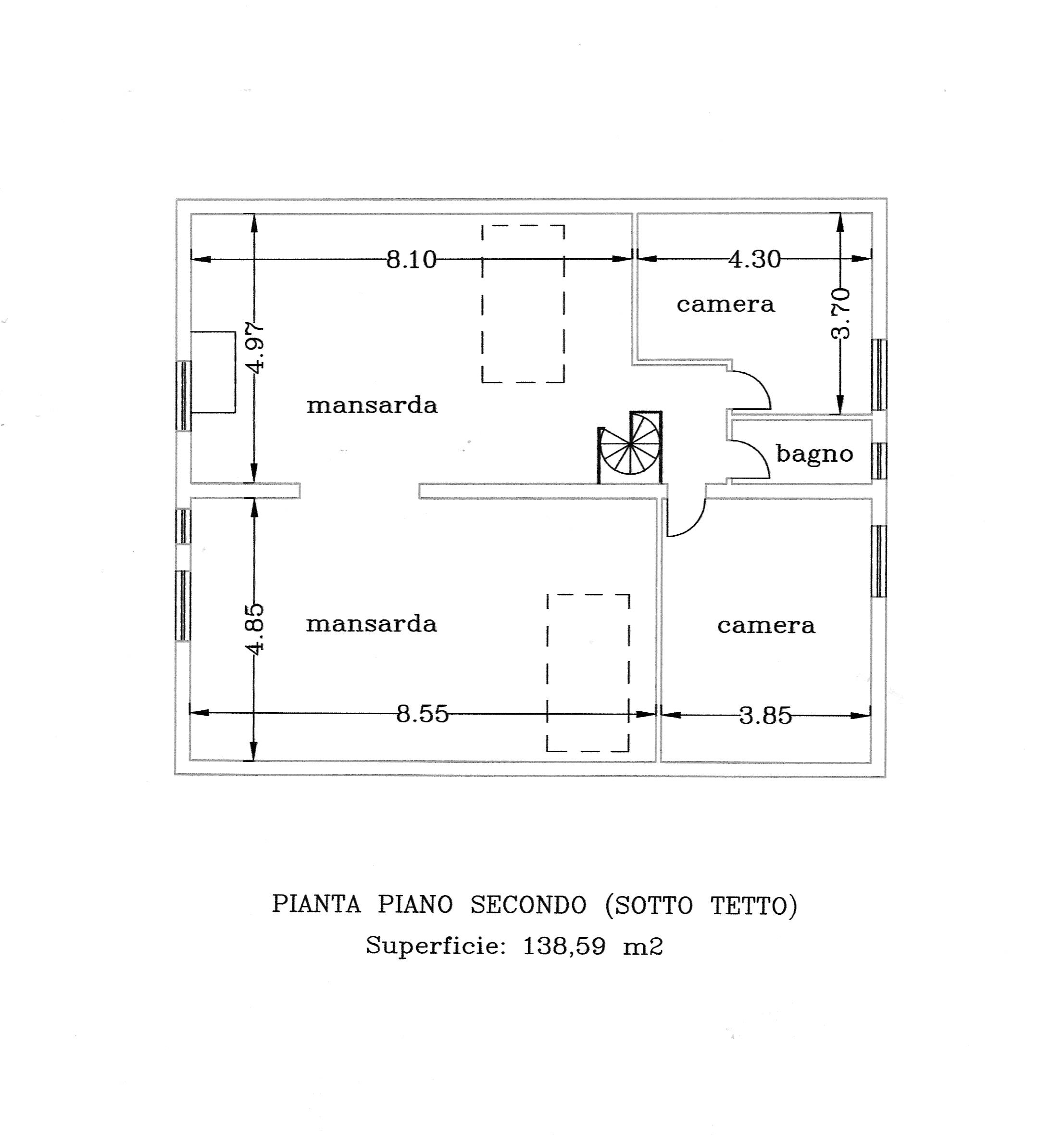Villa singola in vendita, rif. P6011 (Planimetria 3/4)