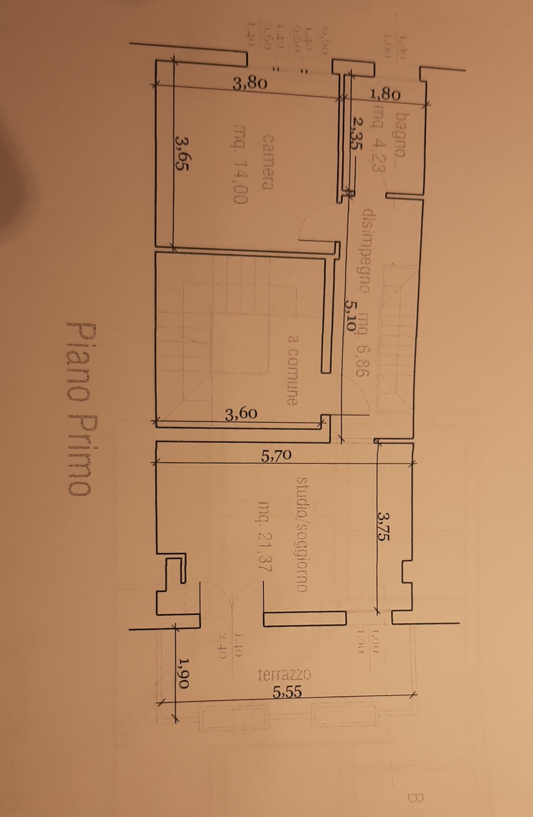 Planimetria 1/3 per rif. 81