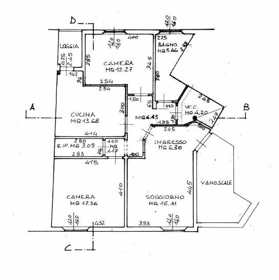 Appartamento in vendita, rif. 93 (Planimetria 1/1)