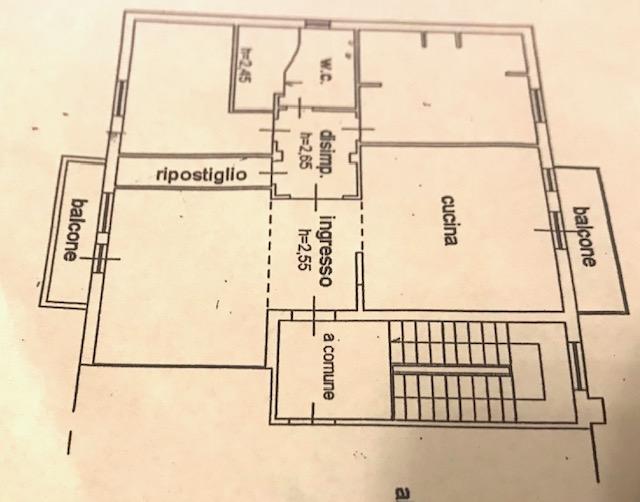 Appartamento in vendita, rif. 95 (Planimetria 1/2)