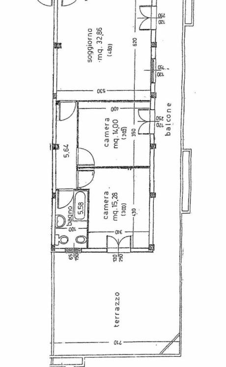 Appartamento in vendita, rif. 102 (Planimetria 1/1)
