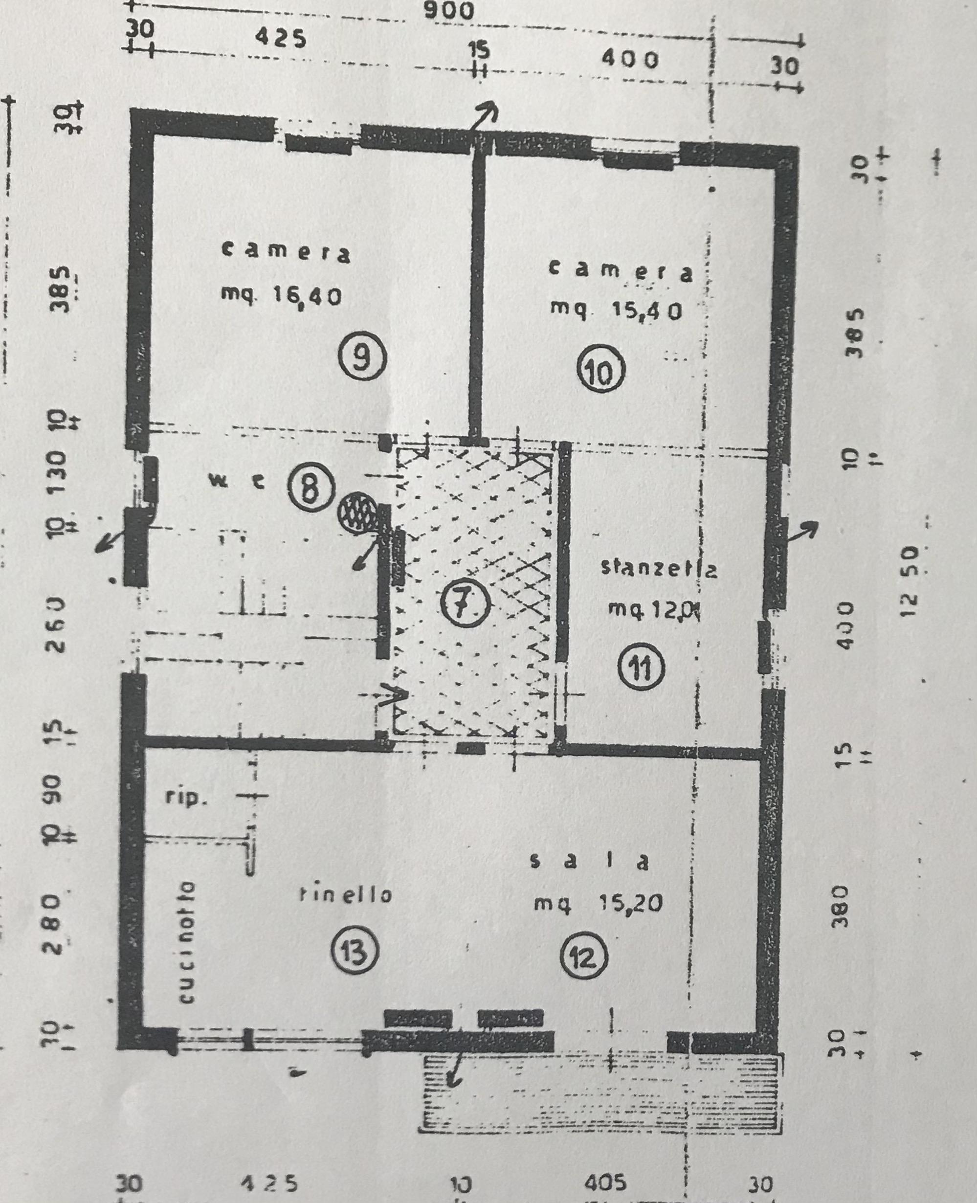 Planimetria 1/1 per rif. 109