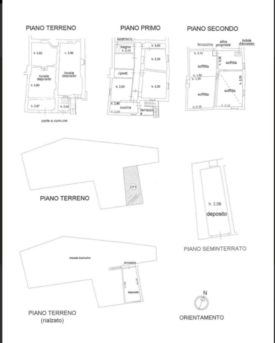 Planimetria 1/1 per rif. FB/125
