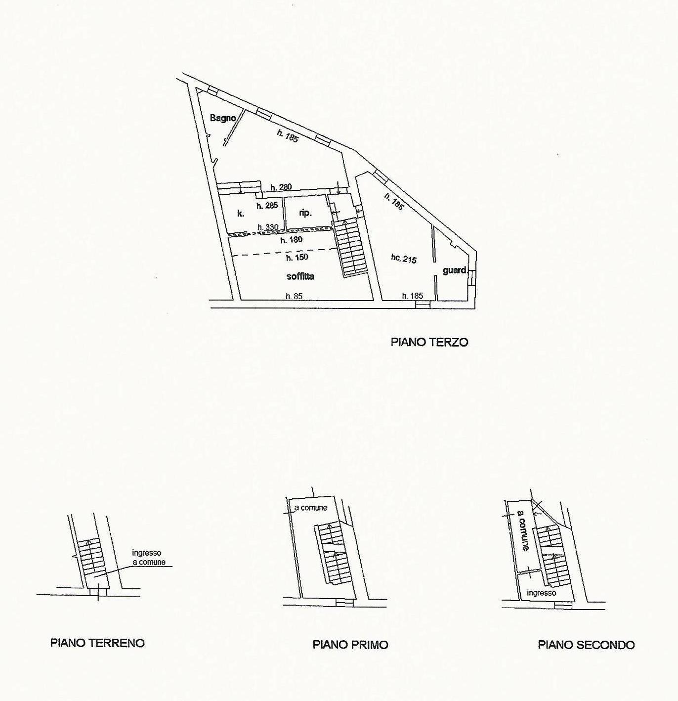 Planimetria 1/1 per rif. A750