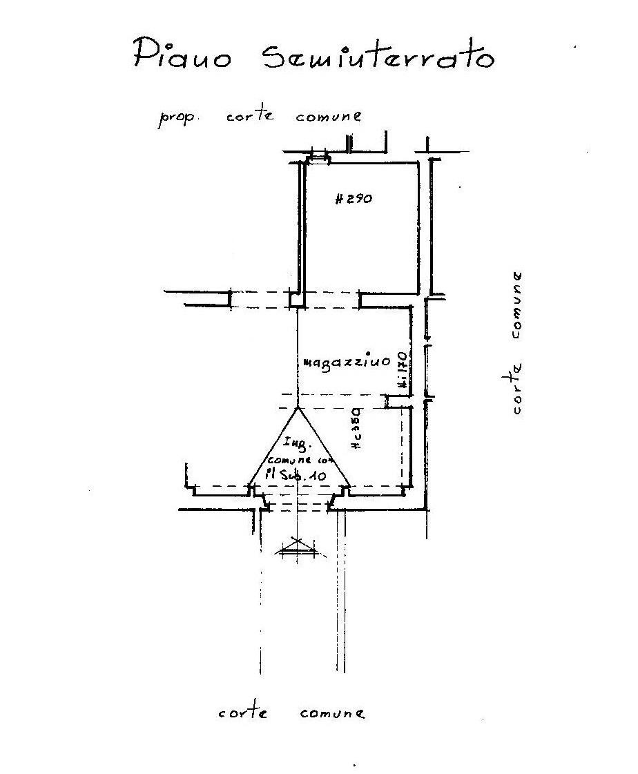 Appartamento in vendita, rif. A762 (Planimetria 2/2)