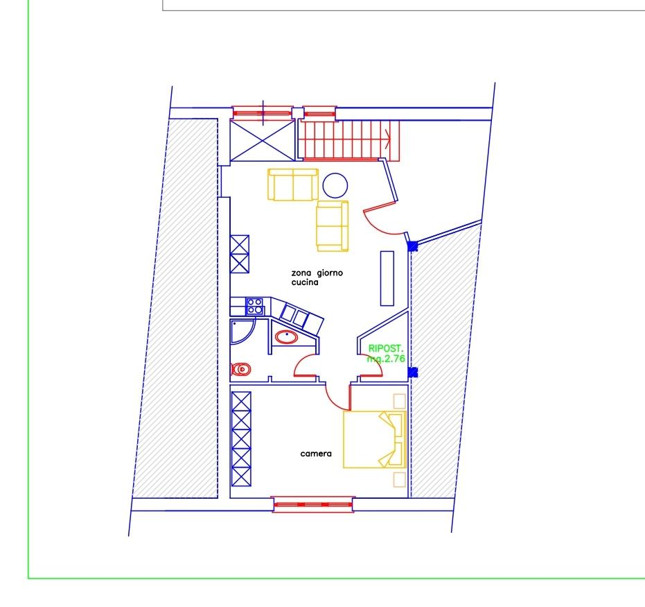 Planimetria 1/1 per rif. 672