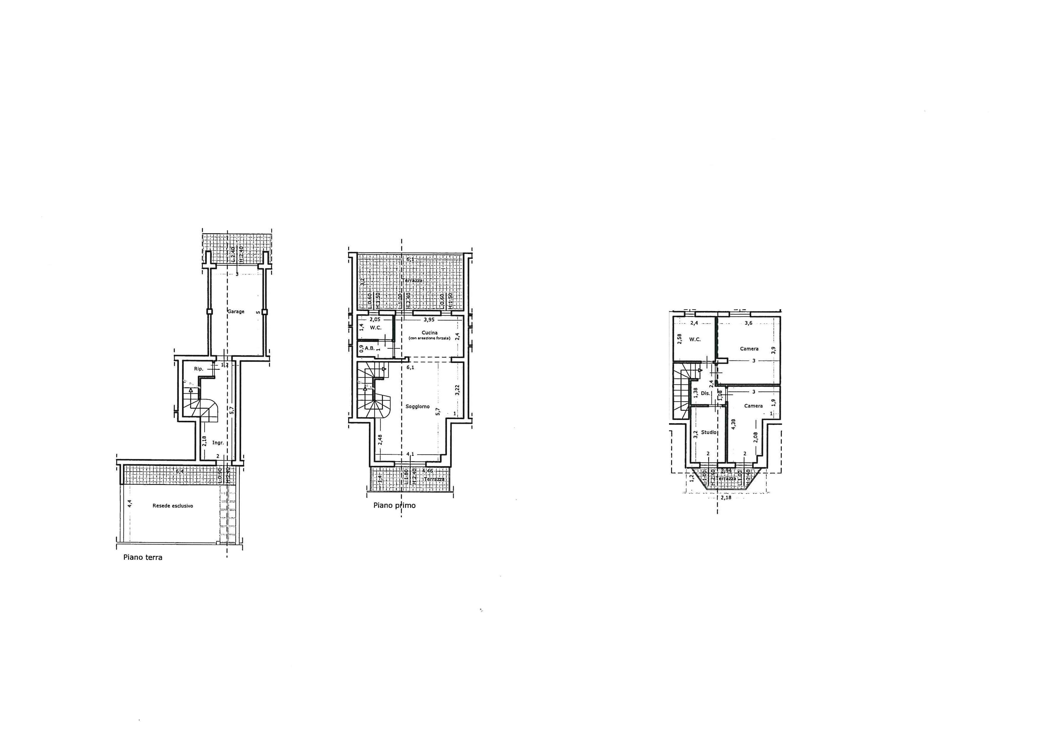 Terratetto in vendita, rif. 603-SL (Planimetria 1/1)
