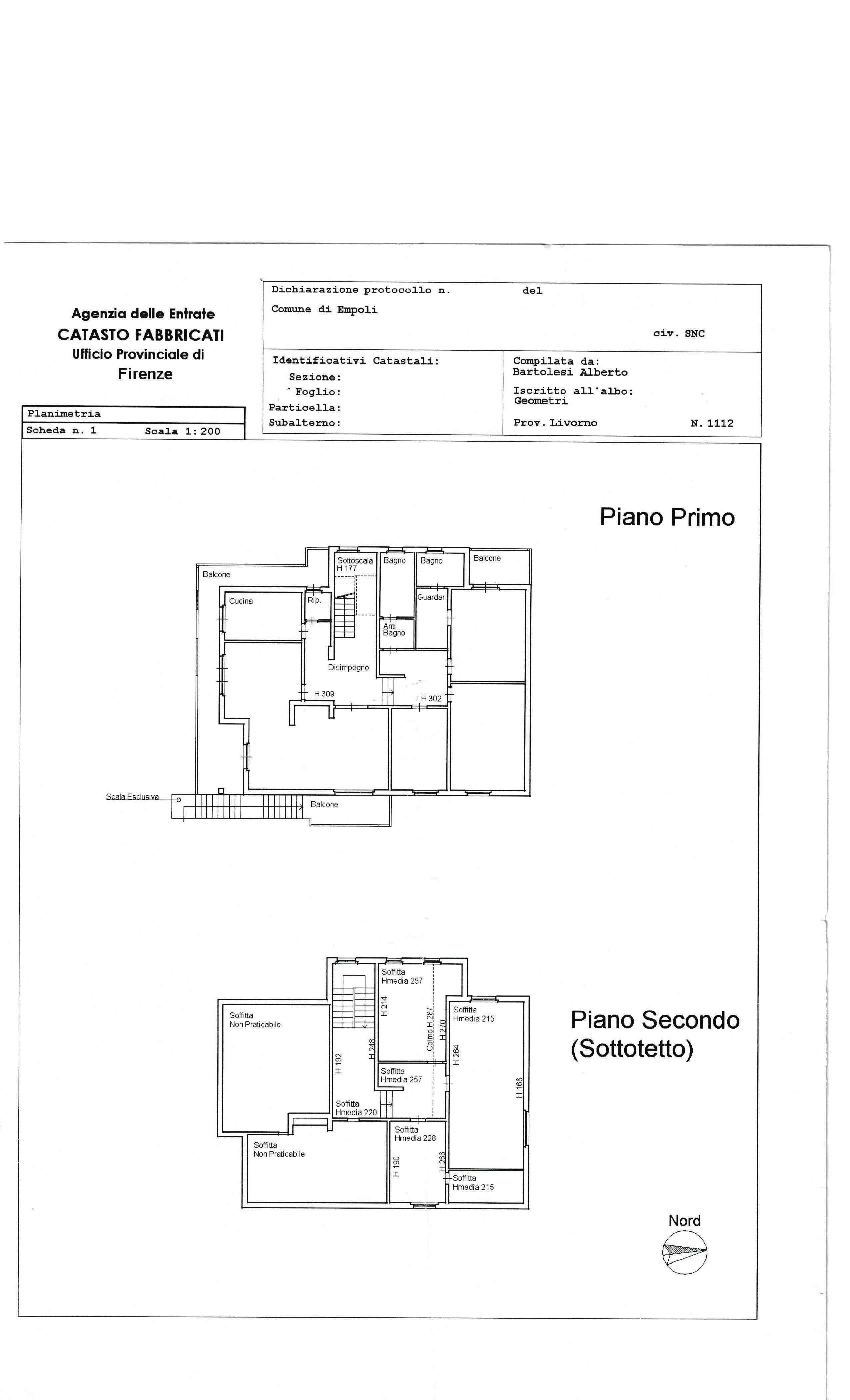 Planimetria 1/1 per rif. SA/136