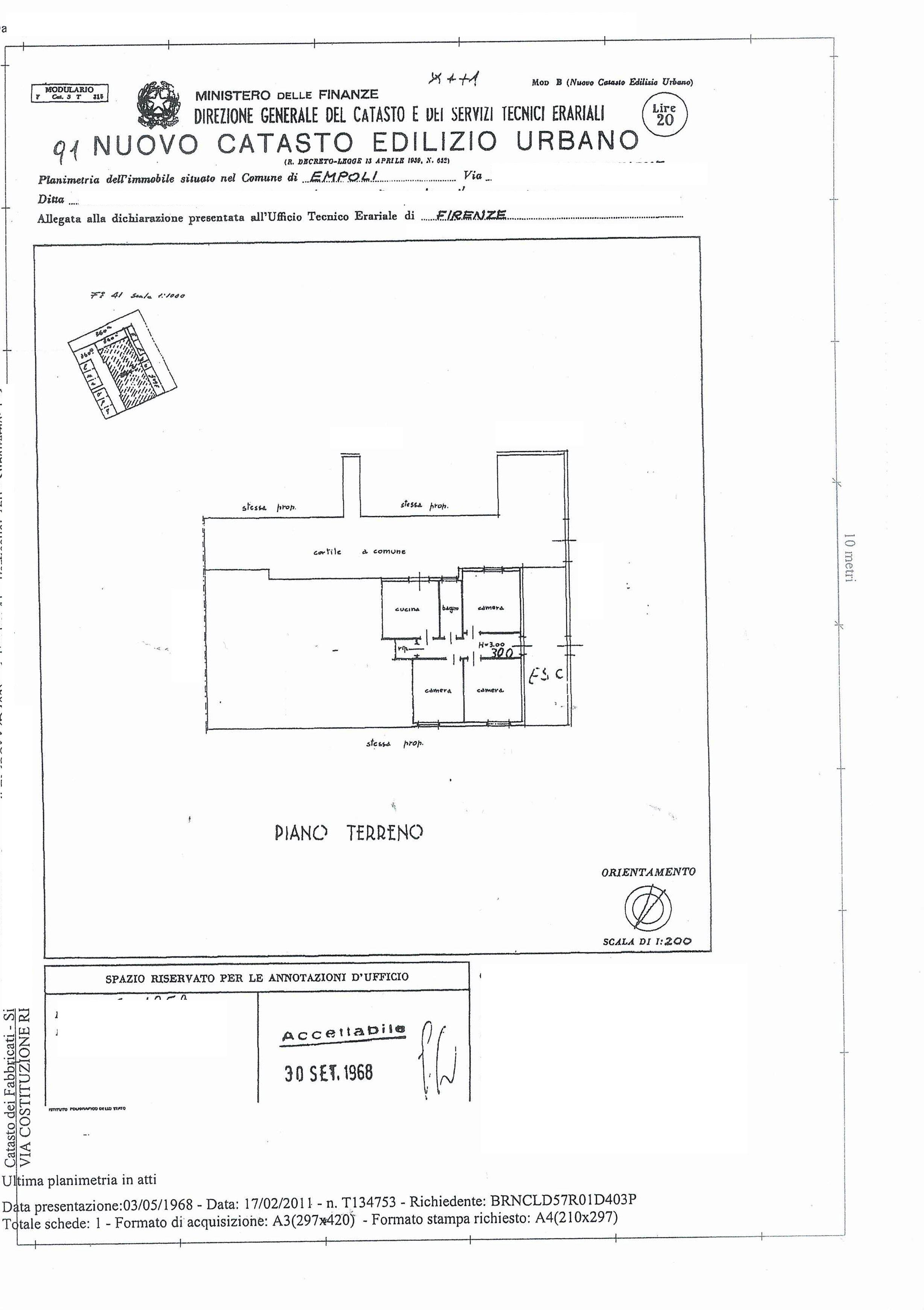 Appartamento in vendita, rif. SA/146 (Planimetria 1/2)