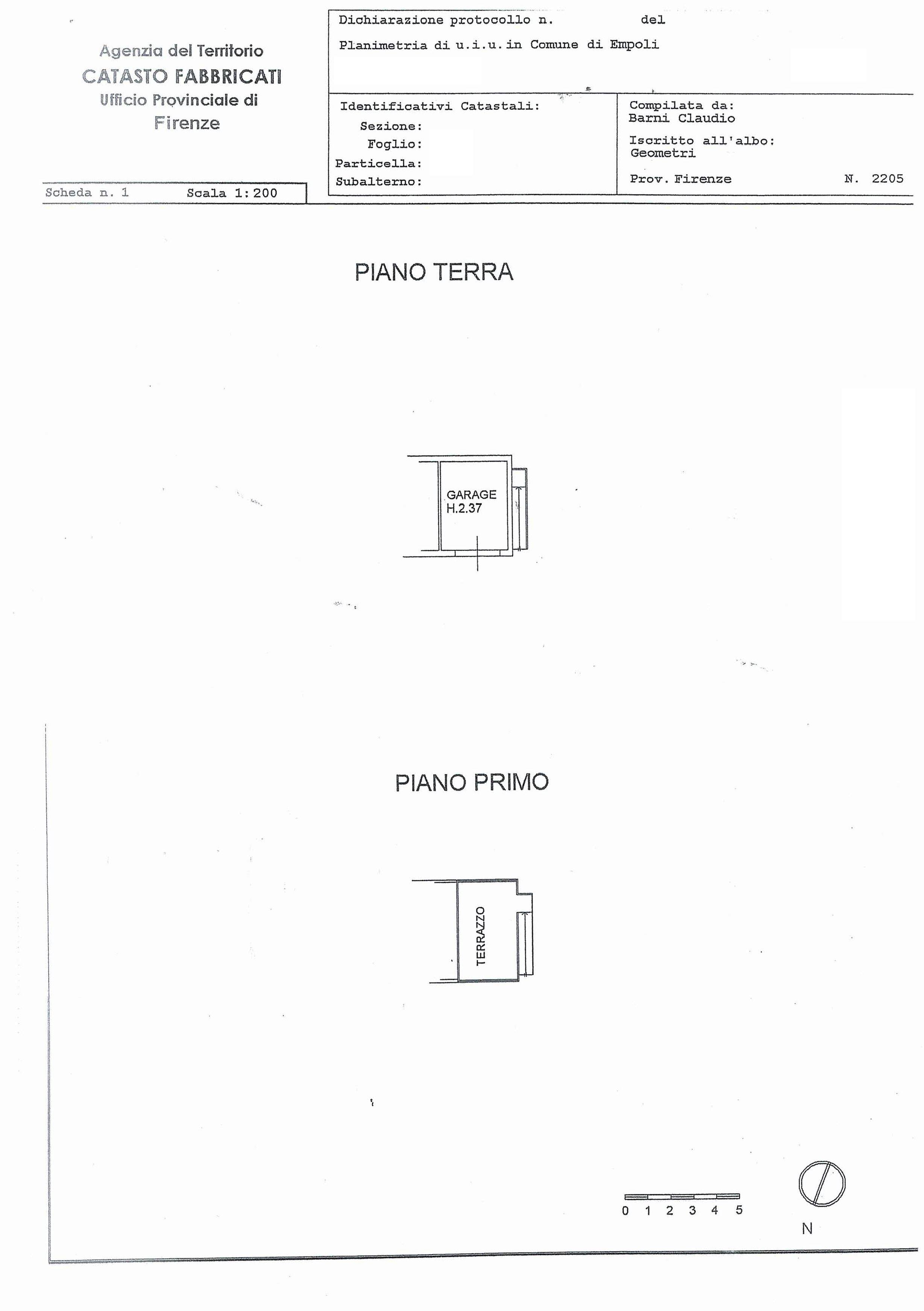 Appartamento in vendita, rif. SA/146 (Planimetria 2/2)