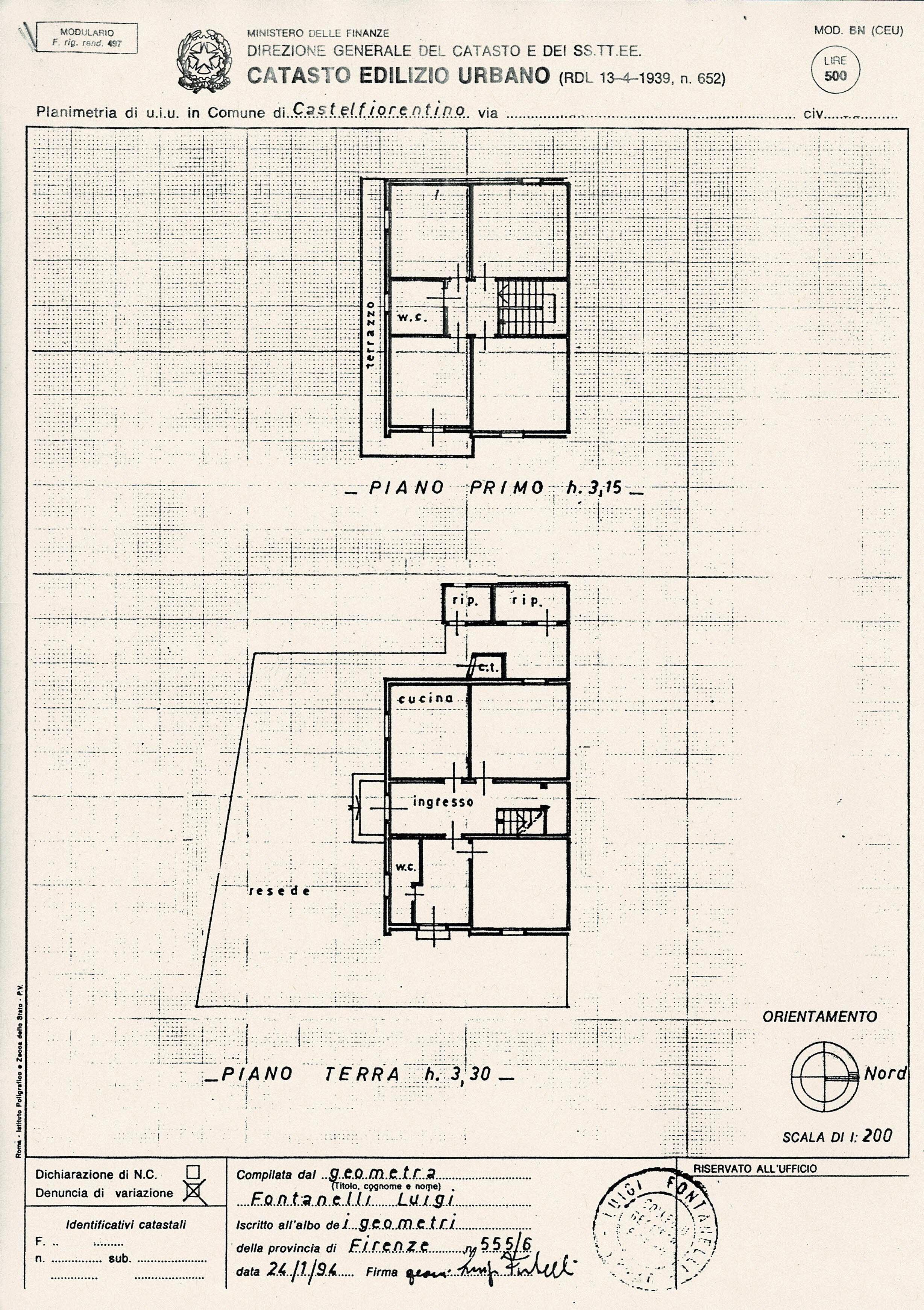 Terratetto in vendita, rif. SA/148 (Planimetria 1/1)