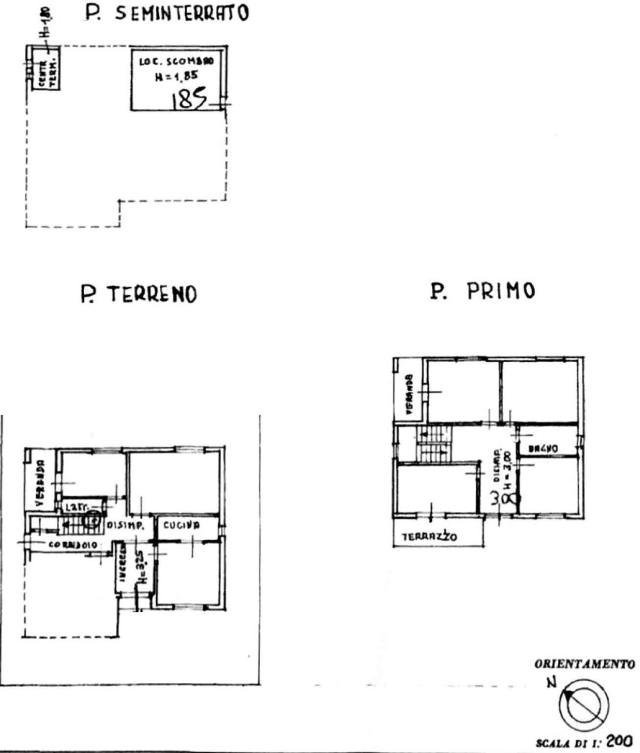 Villa singola in vendita, rif. FB/500 (Planimetria 1/1)