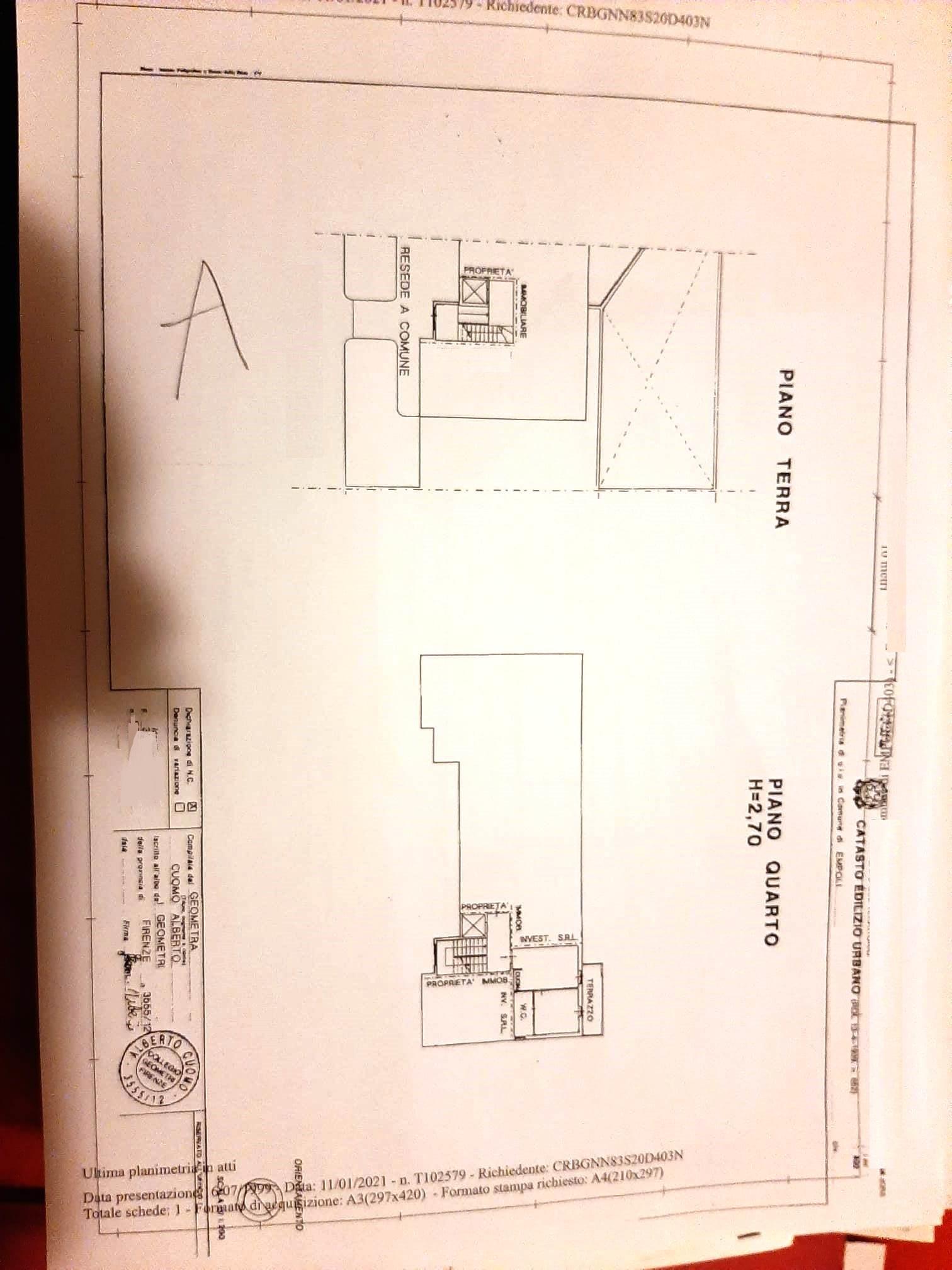 Appartamento in vendita, rif. SA/163 (Planimetria 1/1)