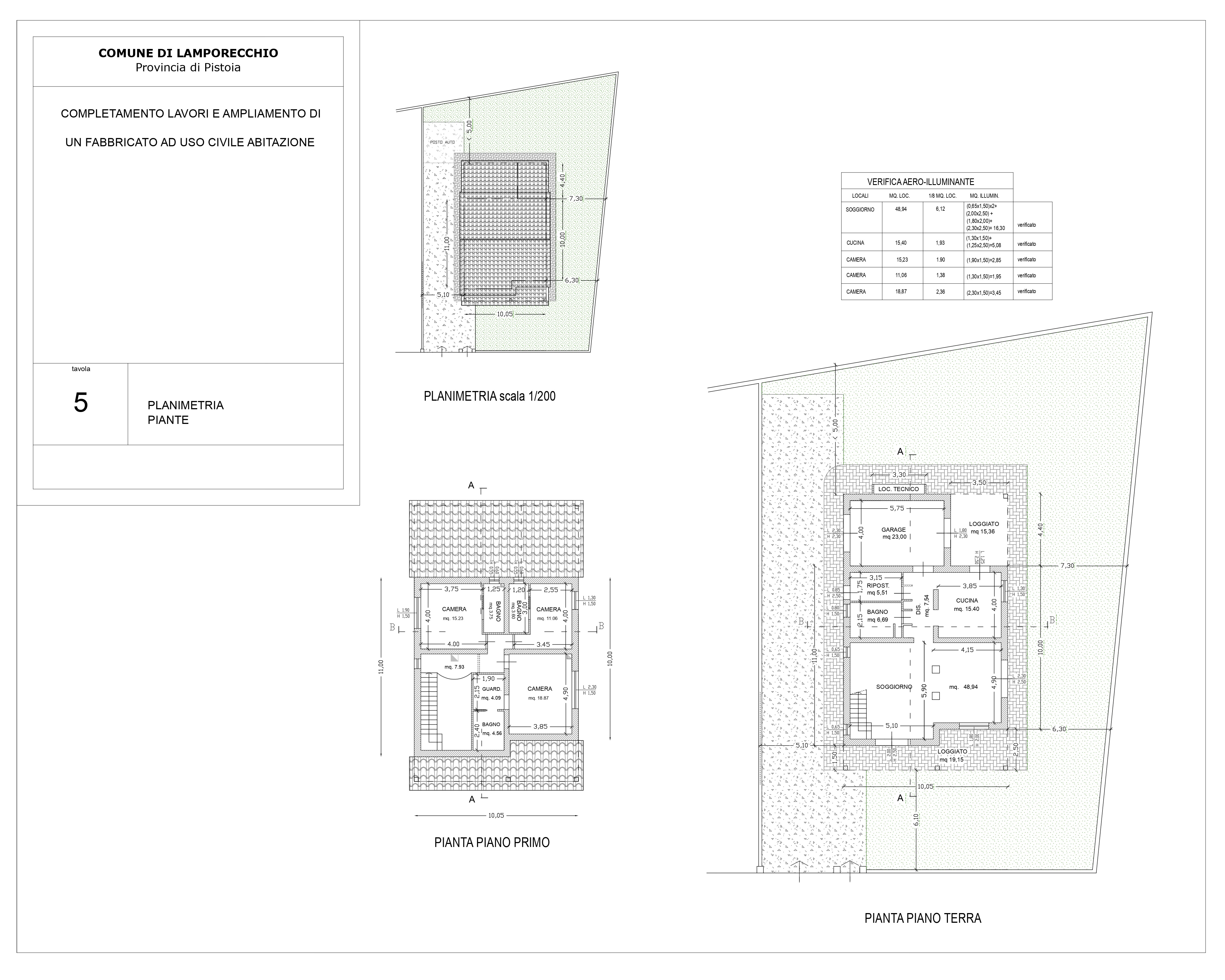 Villa singola in vendita, rif. SA/165 (Planimetria 1/1)