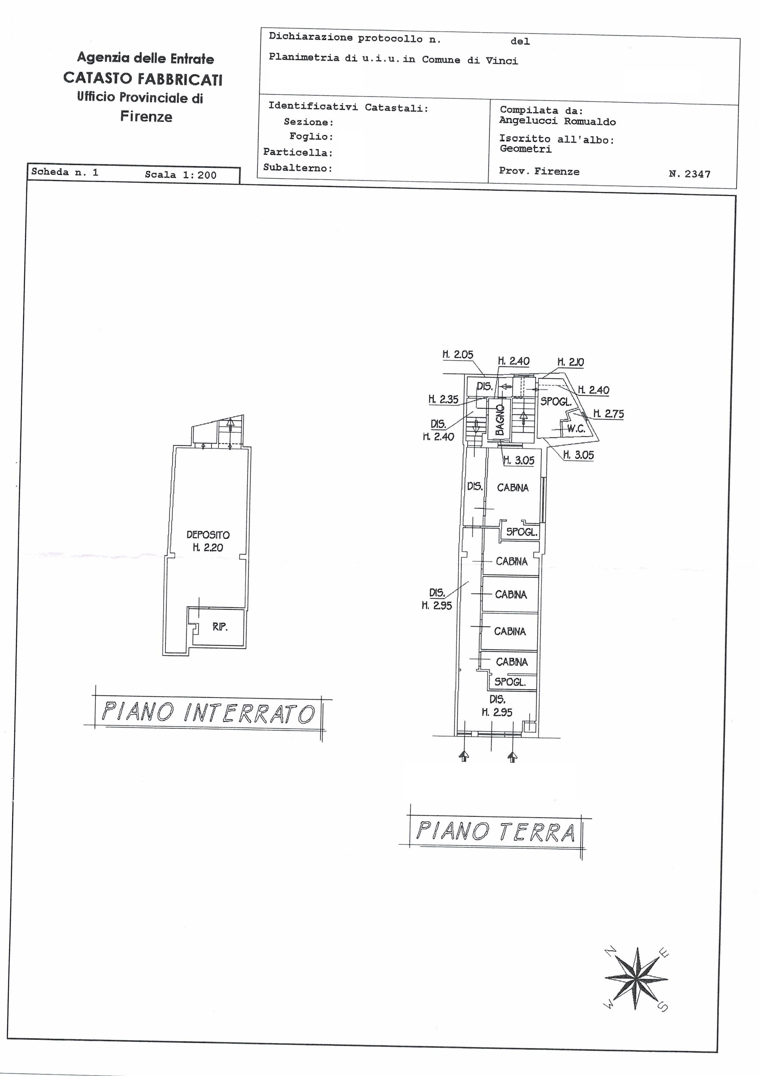 Planimetria 1/1 per rif. C3/005