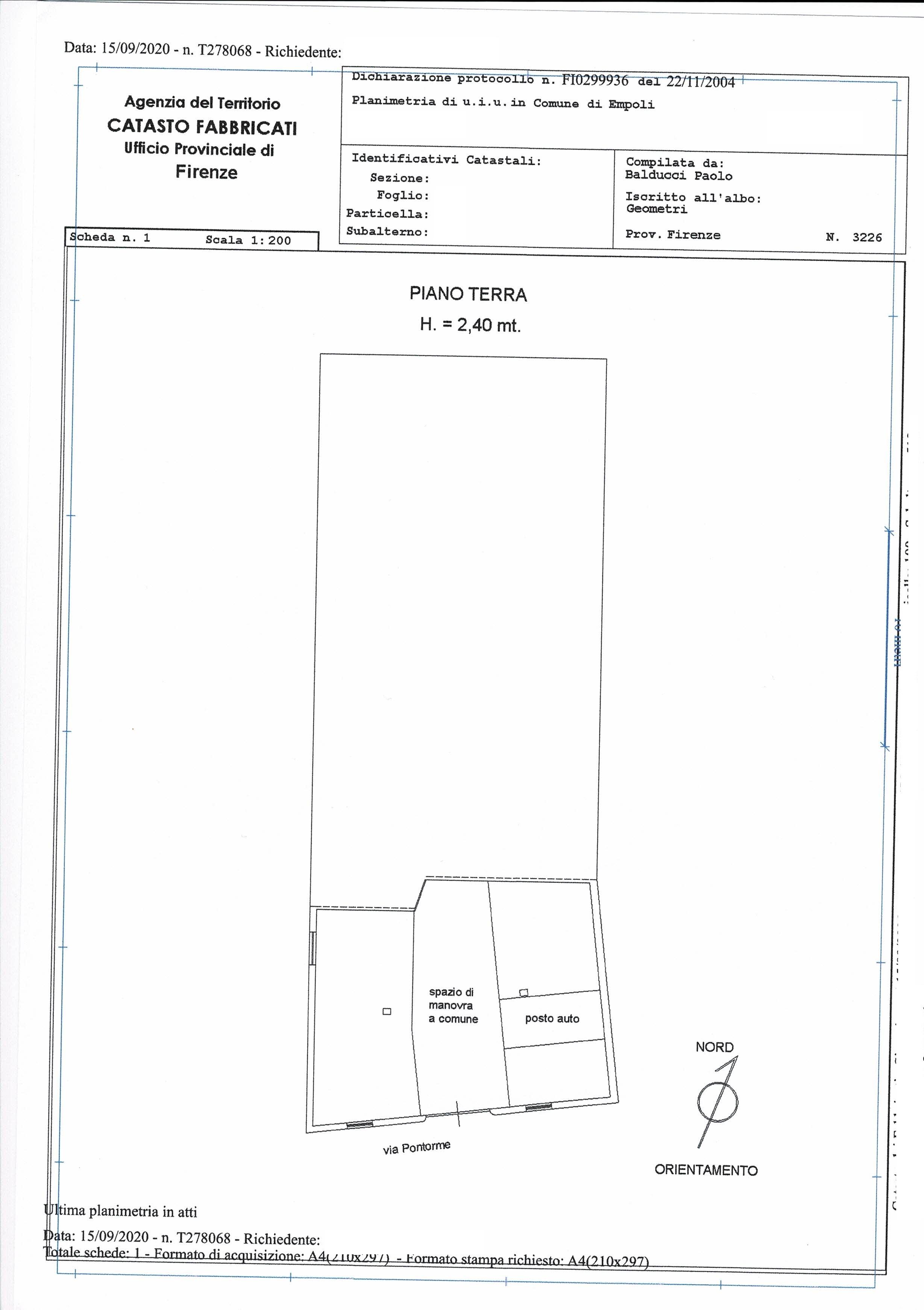 Planimetria 3/3 per rif. SA/176