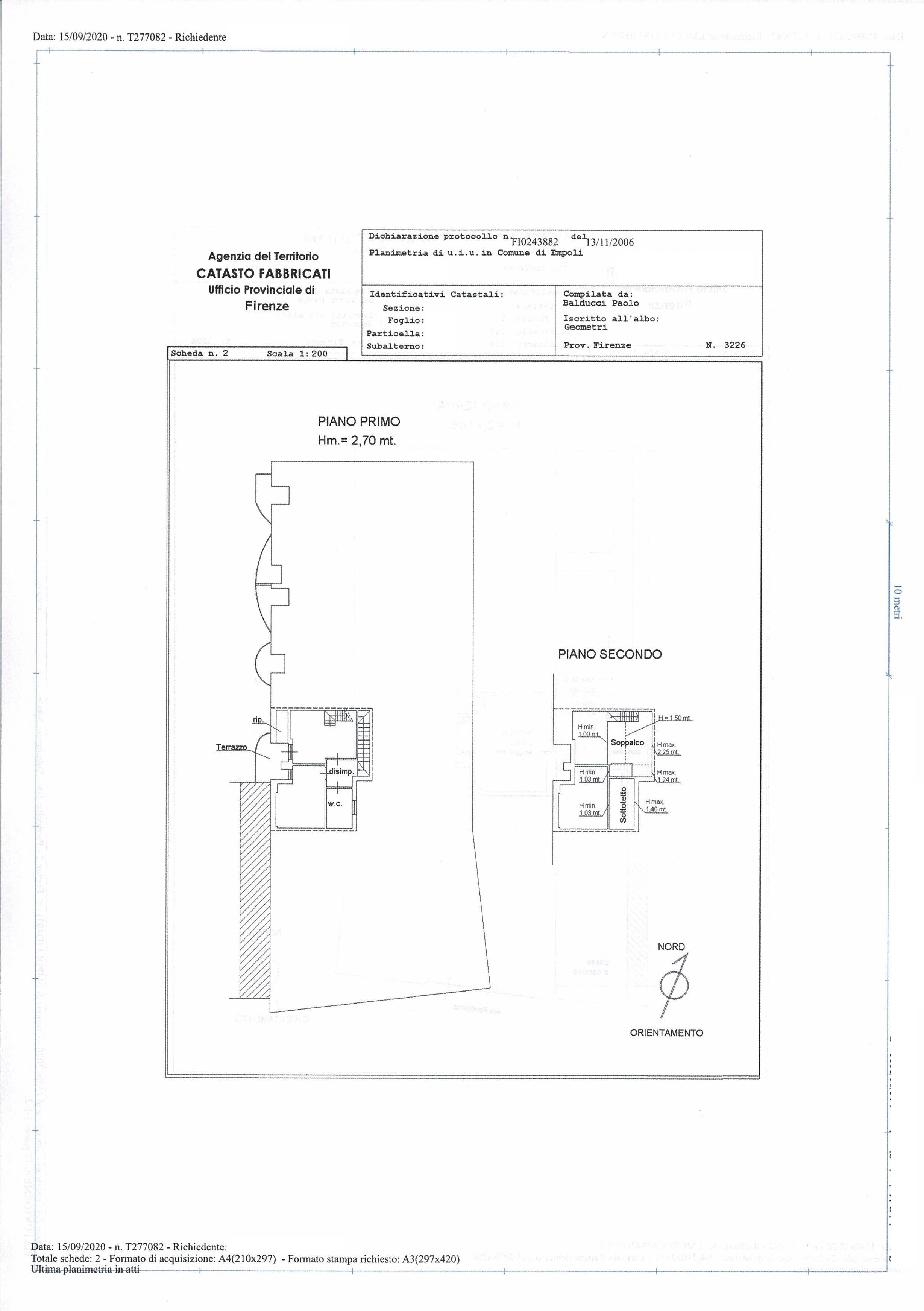 Planimetria 2/3 per rif. SA/176