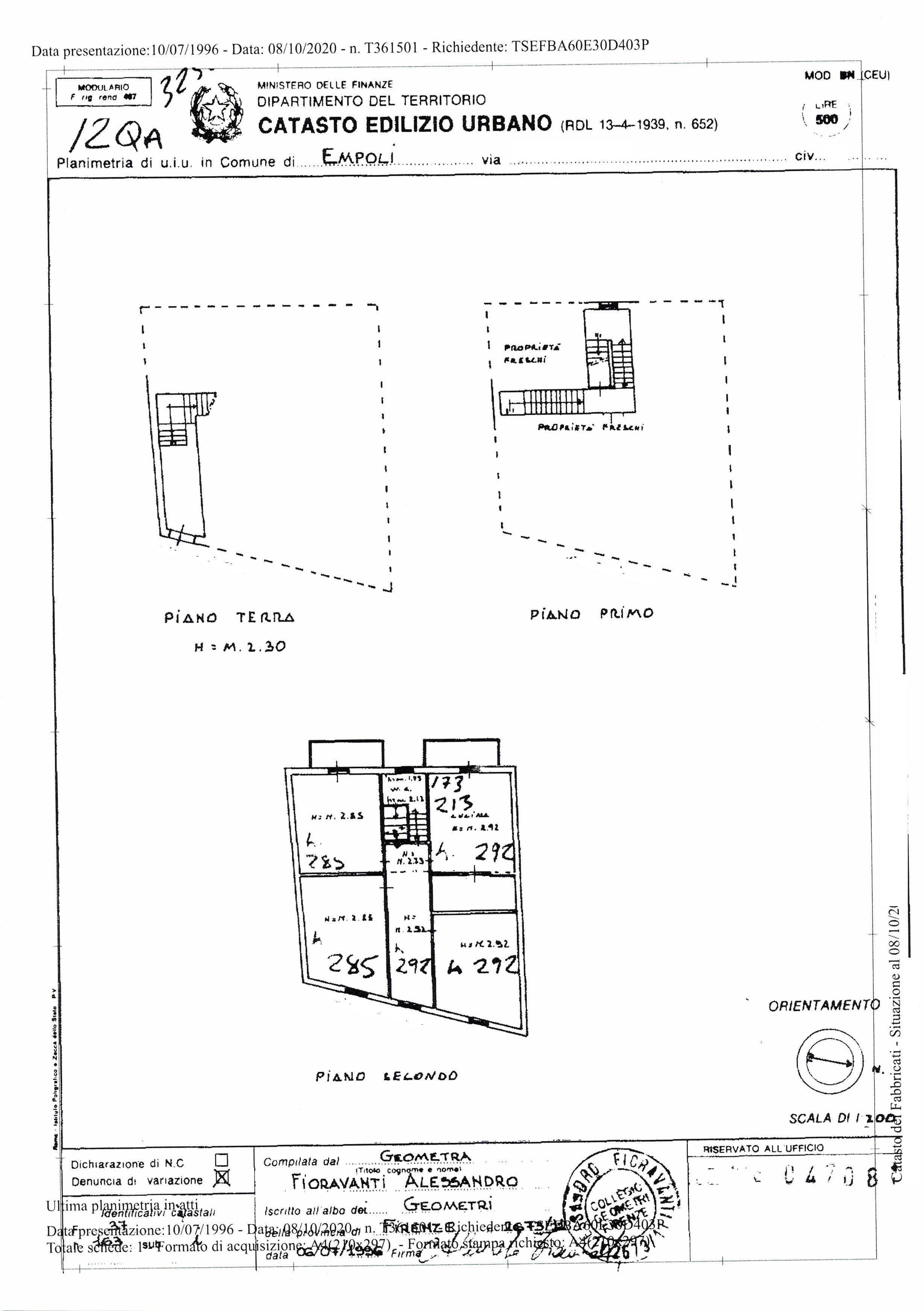 Planimetria 1/1 per rif. SA/181