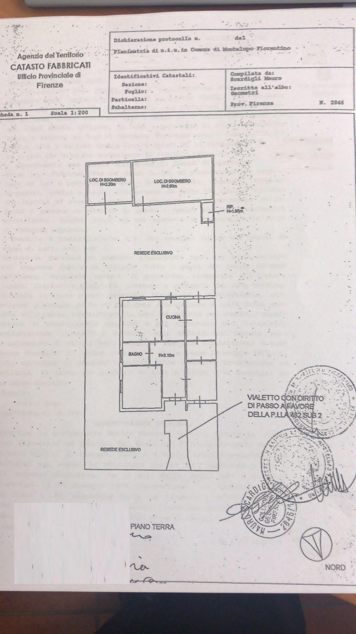 Villetta bifamiliare in vendita, rif. SA/188 (Planimetria 1/1)