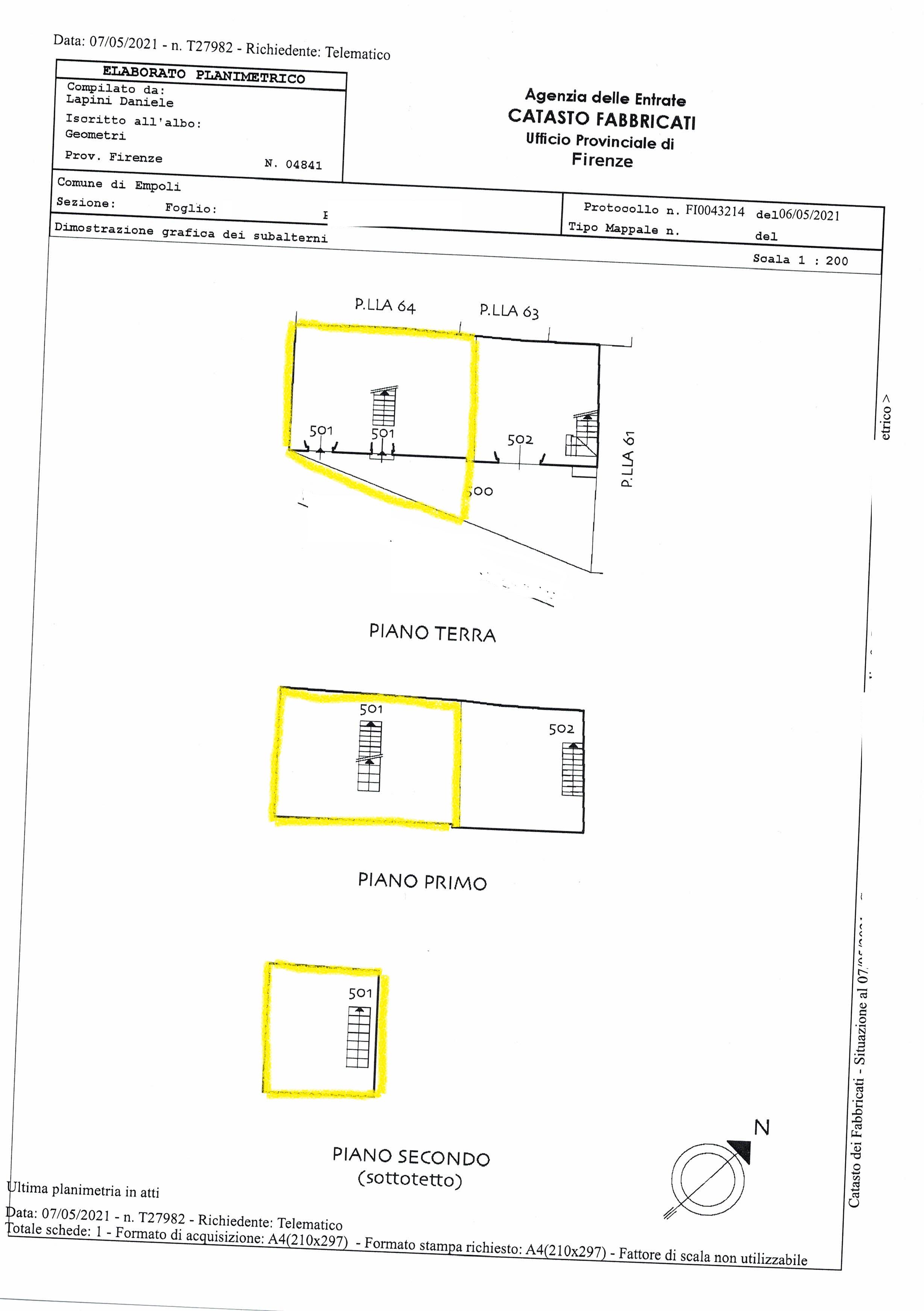 Planimetria 1/2 per rif. SA/192