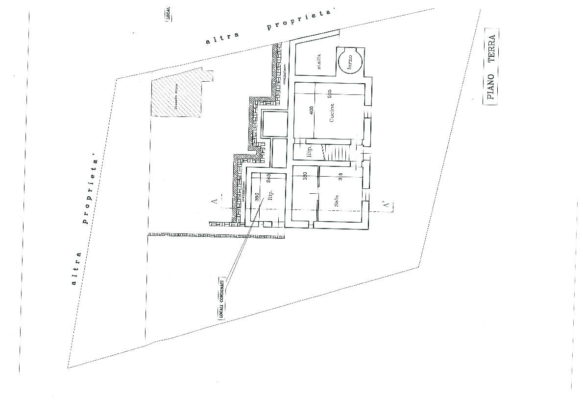 Planimetria 1/2 per rif. 405