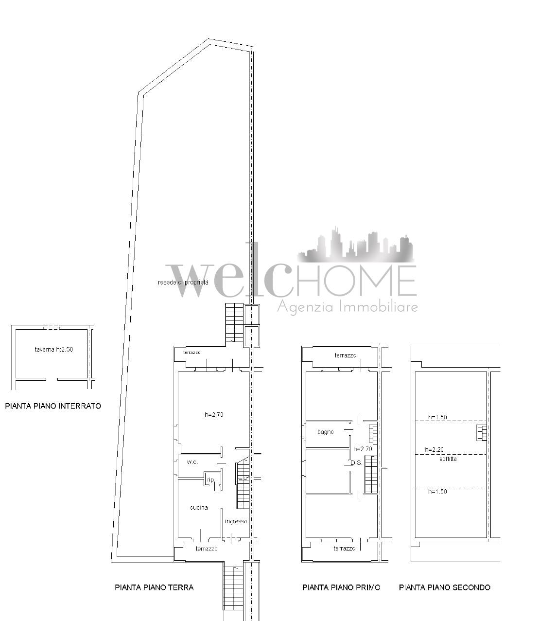 Villetta a schiera in vendita, rif. K162 (Planimetria 1/2)