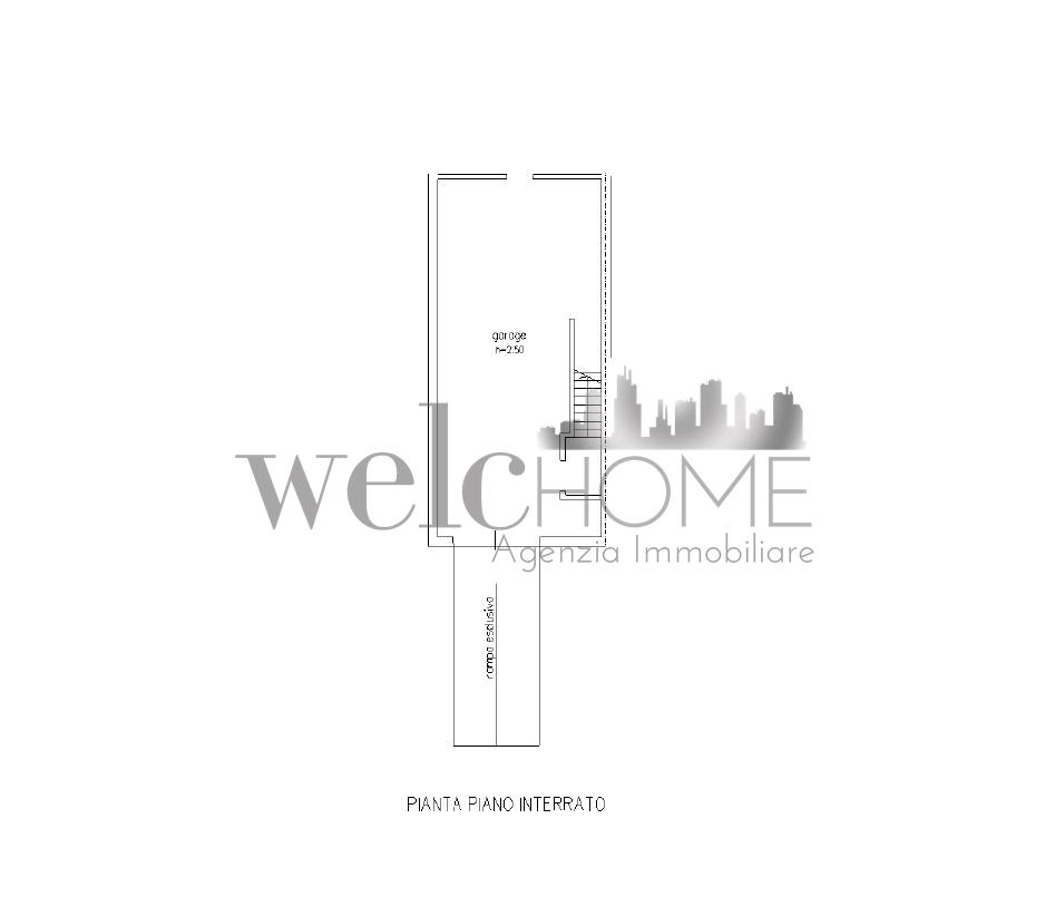 Villetta a schiera in vendita, rif. K162 (Planimetria 2/2)