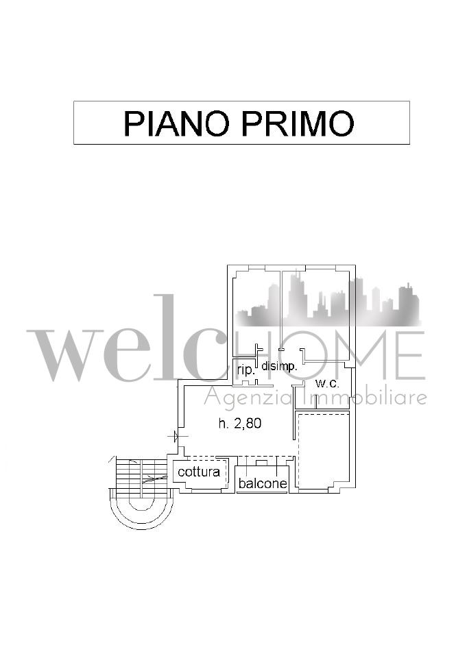Appartamento in vendita, rif. K166 (Planimetria 1/1)