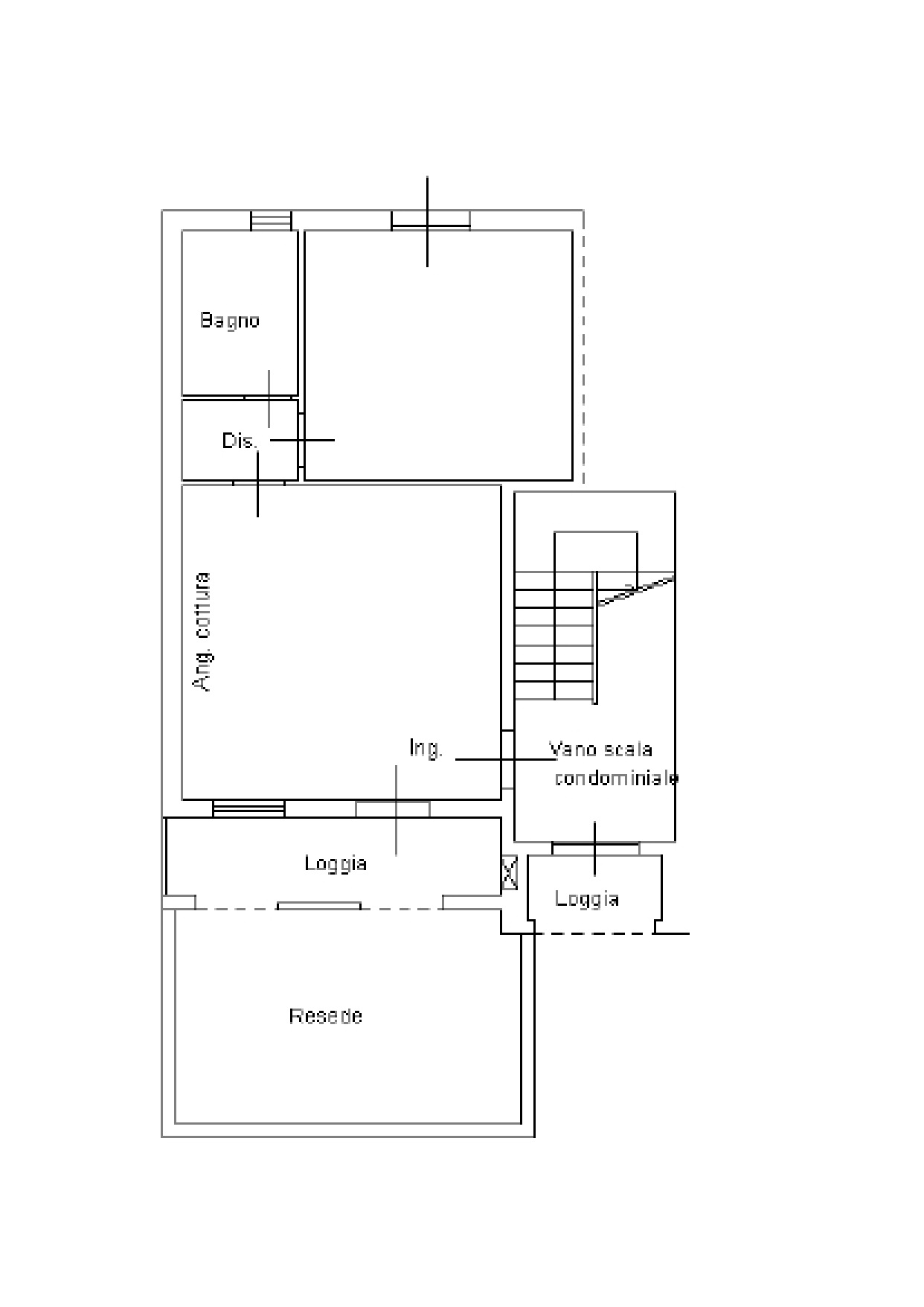 Appartamento in vendita, rif. K076 (Planimetria 1/1)