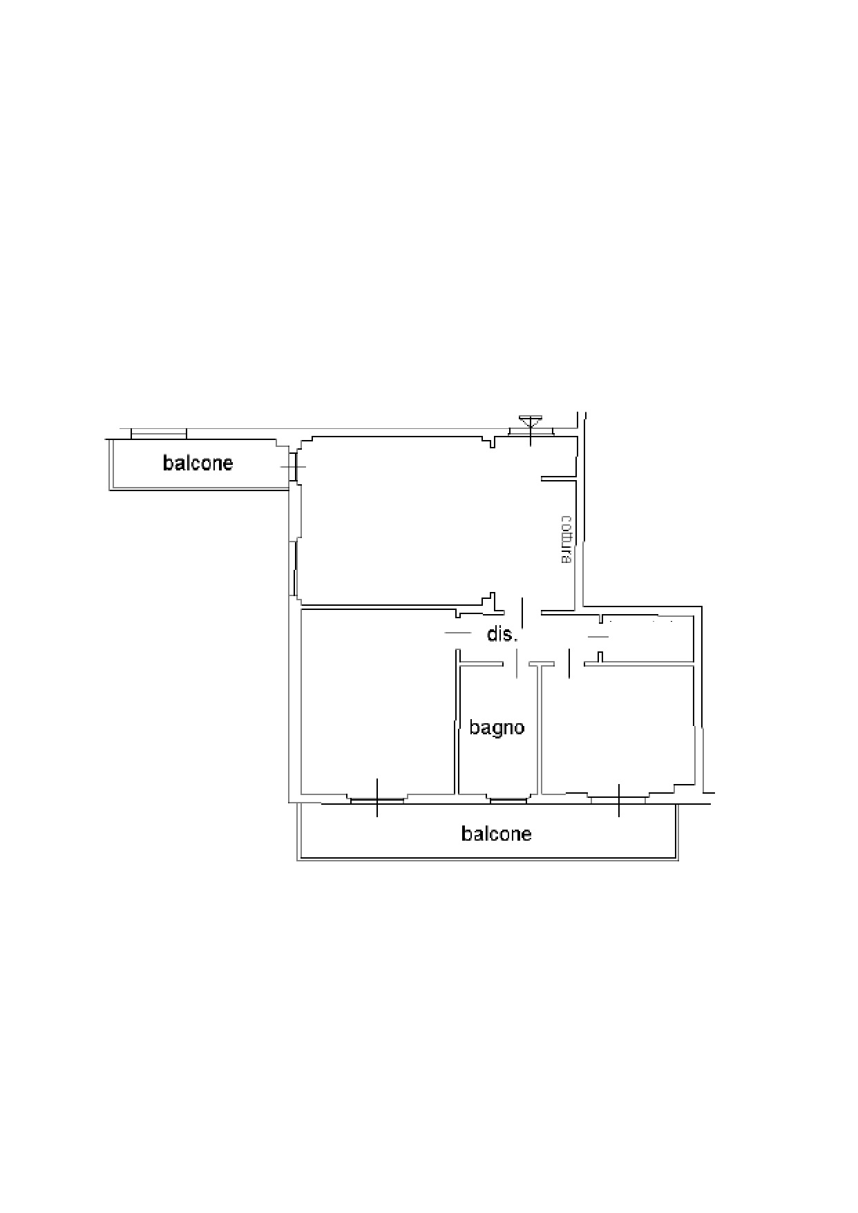 Appartamento in vendita, rif. K090 (Planimetria 1/1)