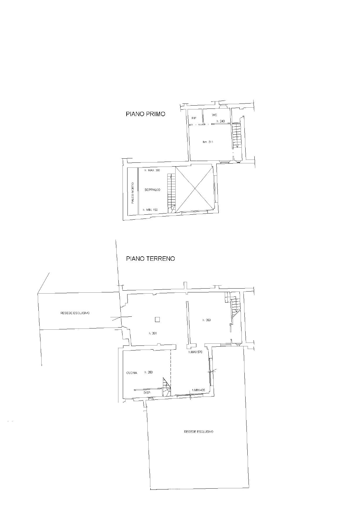 Colonica in vendita, rif. K094 (Planimetria 1/1)