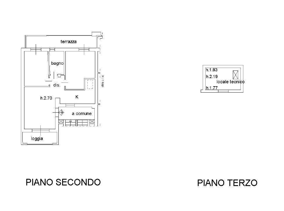Appartamento in vendita, rif. K115 (Planimetria 1/1)