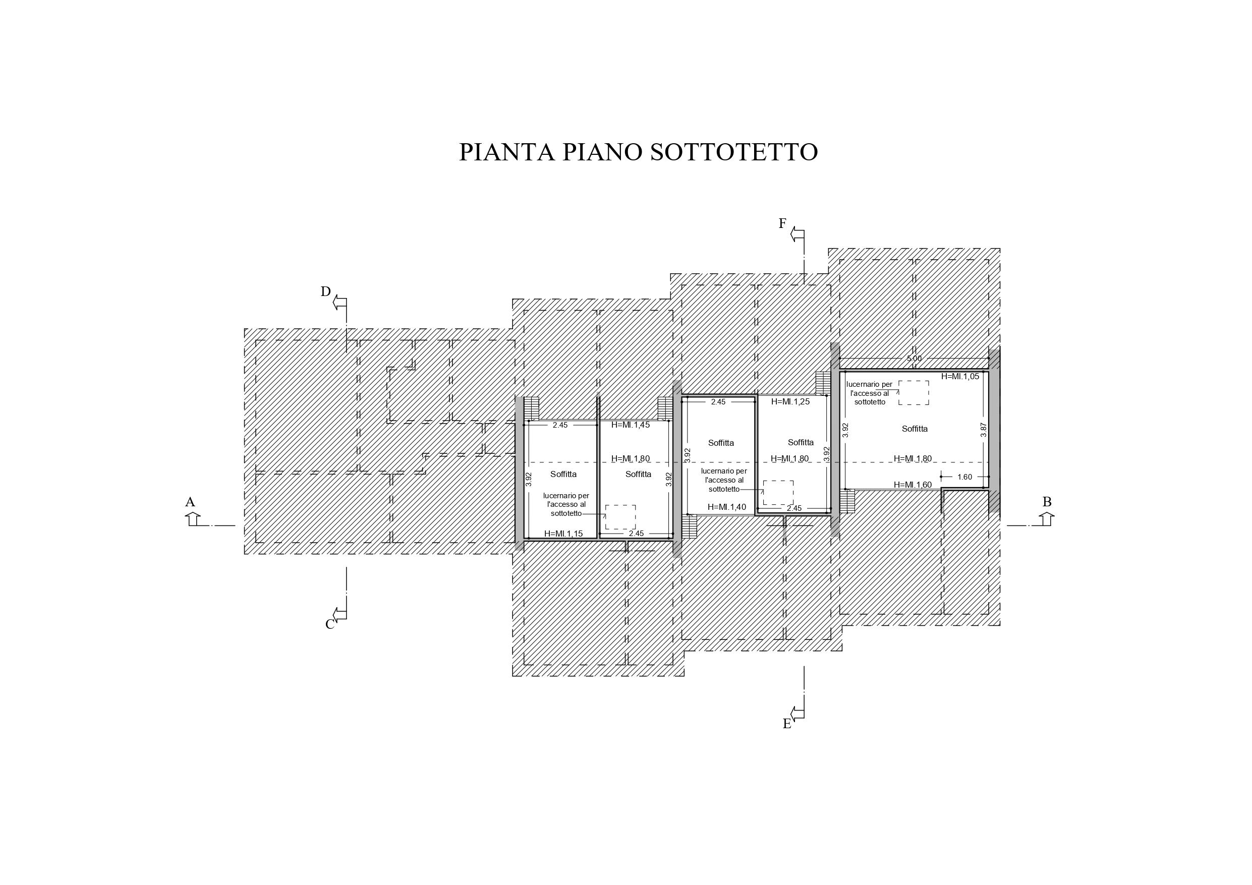 Villetta a schiera angolare in vendita, rif. K119 (Planimetria 3/3)