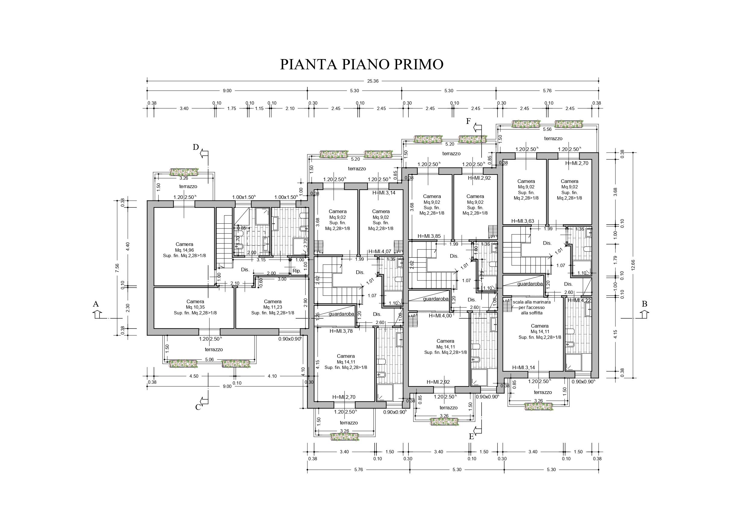 Villetta a schiera angolare in vendita, rif. K119 (Planimetria 2/3)