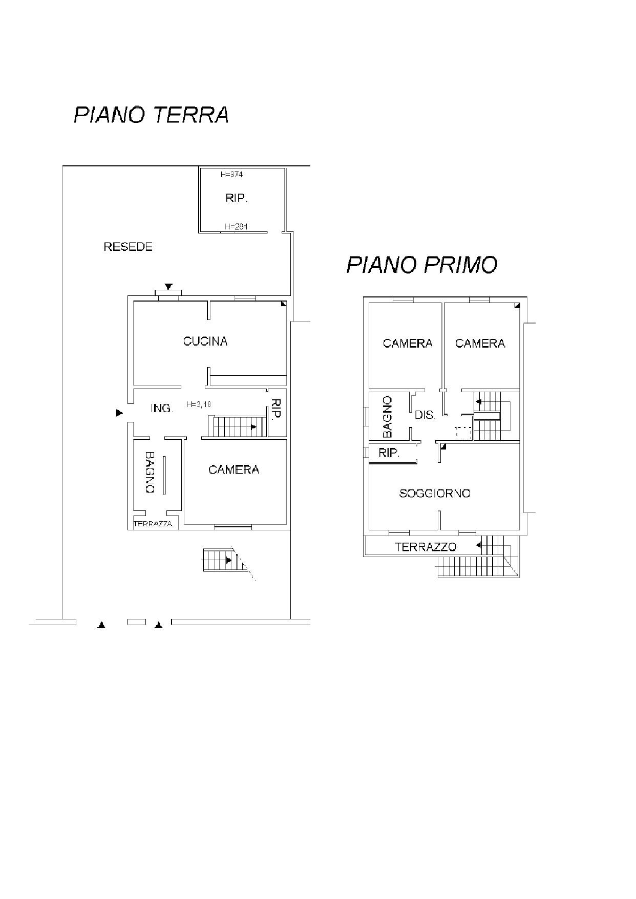Villetta a schiera in vendita, rif. K129 (Planimetria 1/1)