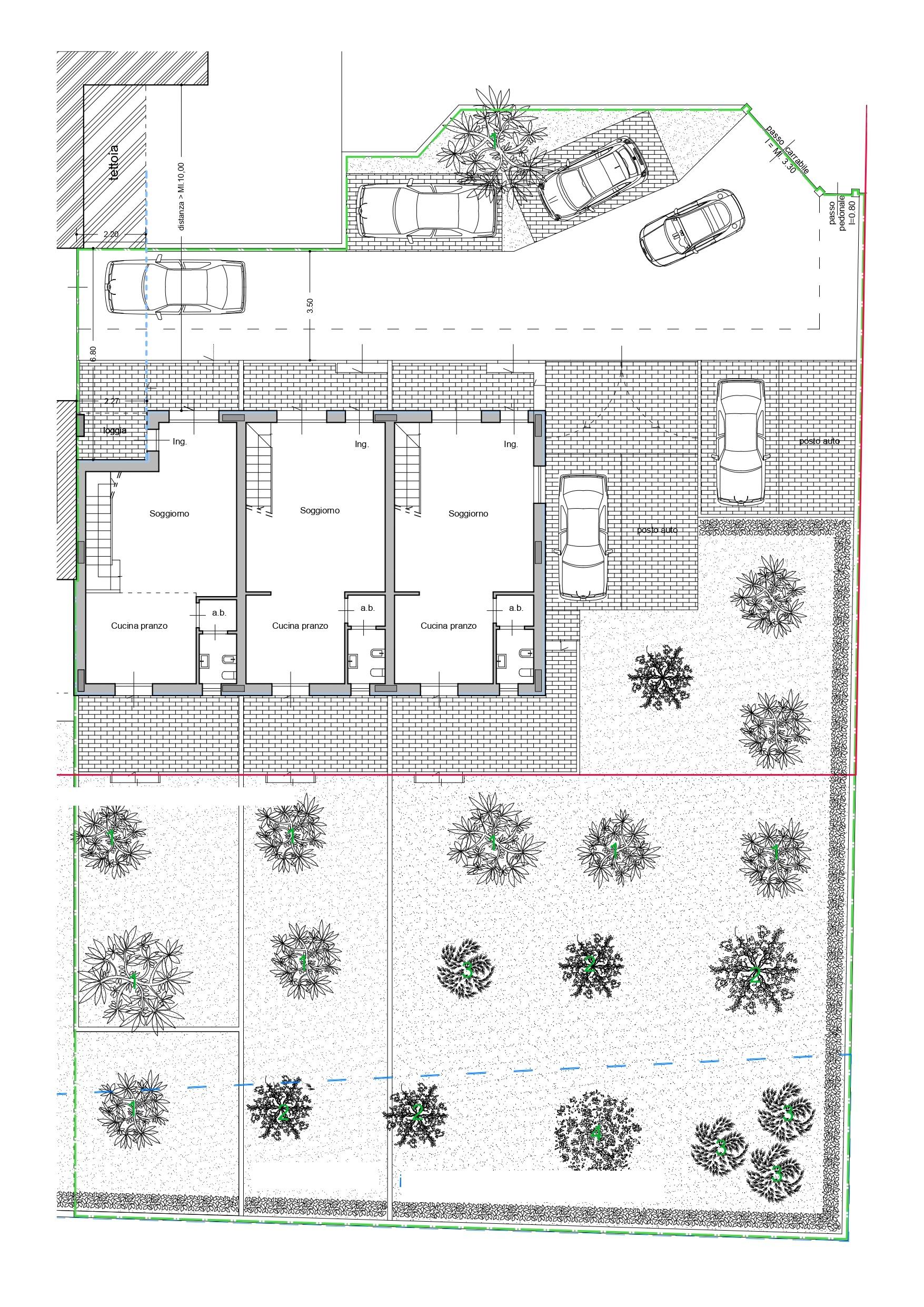 Villetta a schiera in vendita, rif. K133 (Planimetria 4/4)