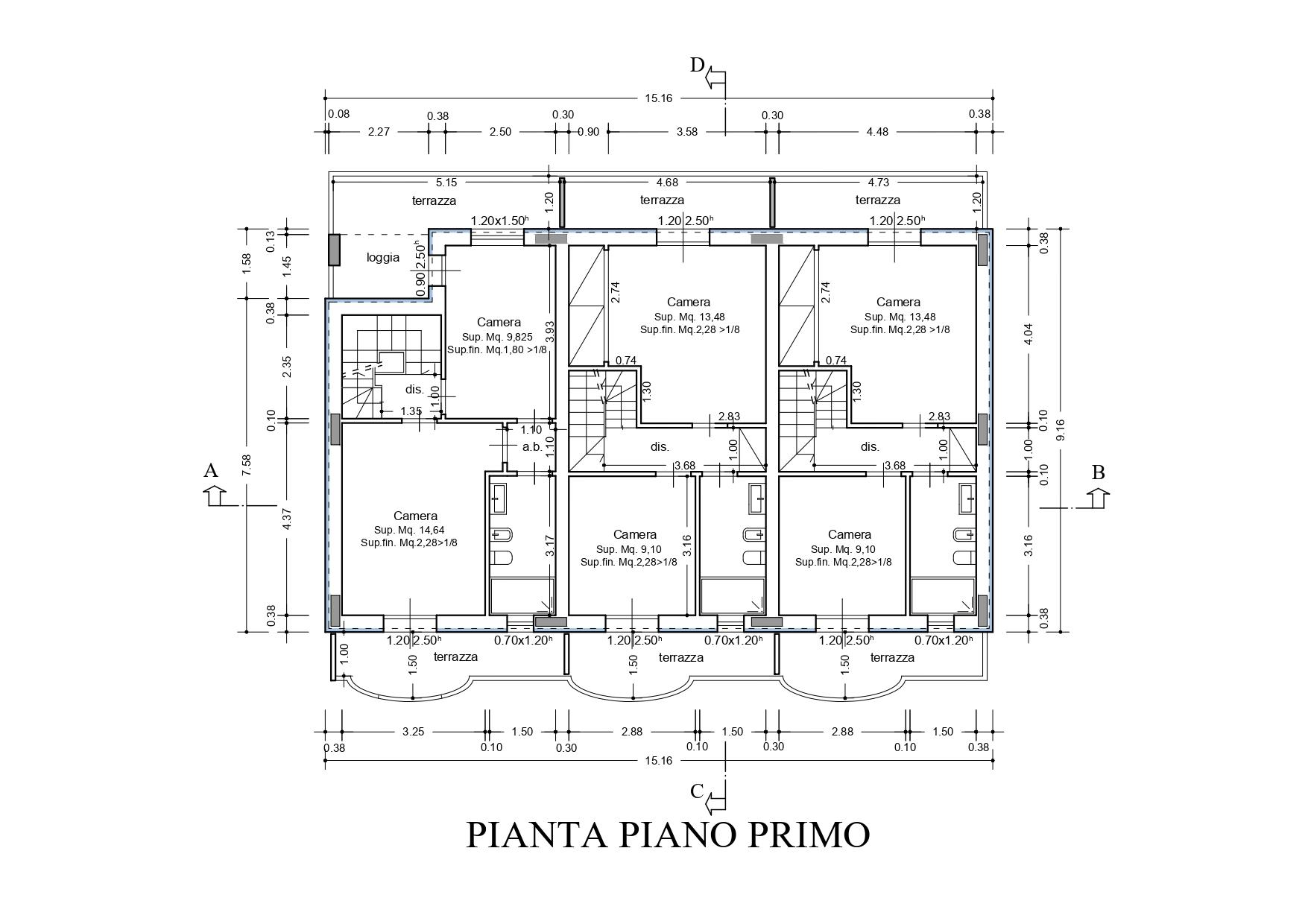 Villetta a schiera in vendita, rif. K133 (Planimetria 2/4)