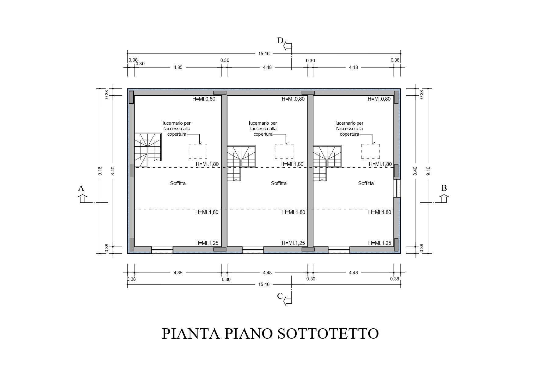 Villetta a schiera in vendita, rif. K133 (Planimetria 3/4)