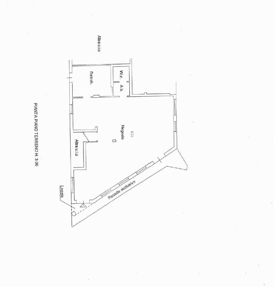 Negozio in affitto commerciale, rif. F008 (Planimetria 1/1)