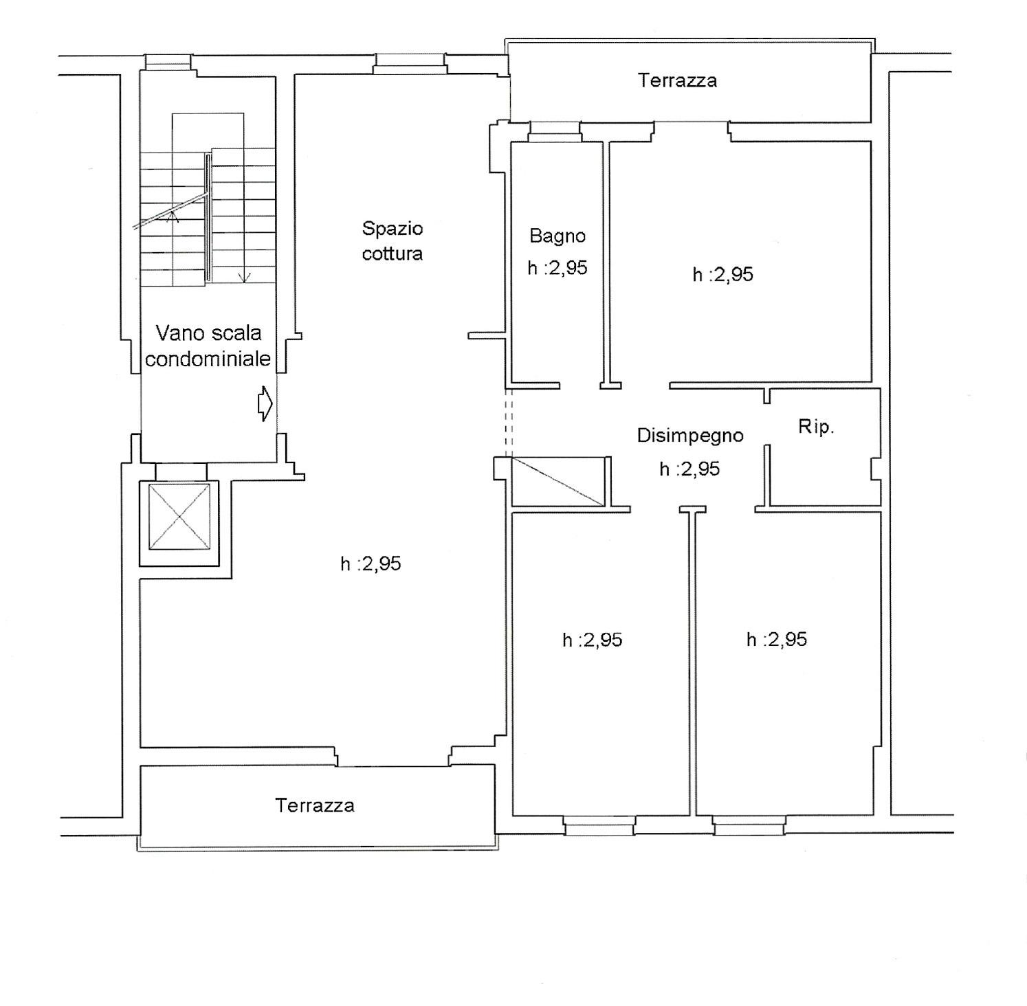 Appartamento in vendita, rif. K136 (Planimetria 1/1)