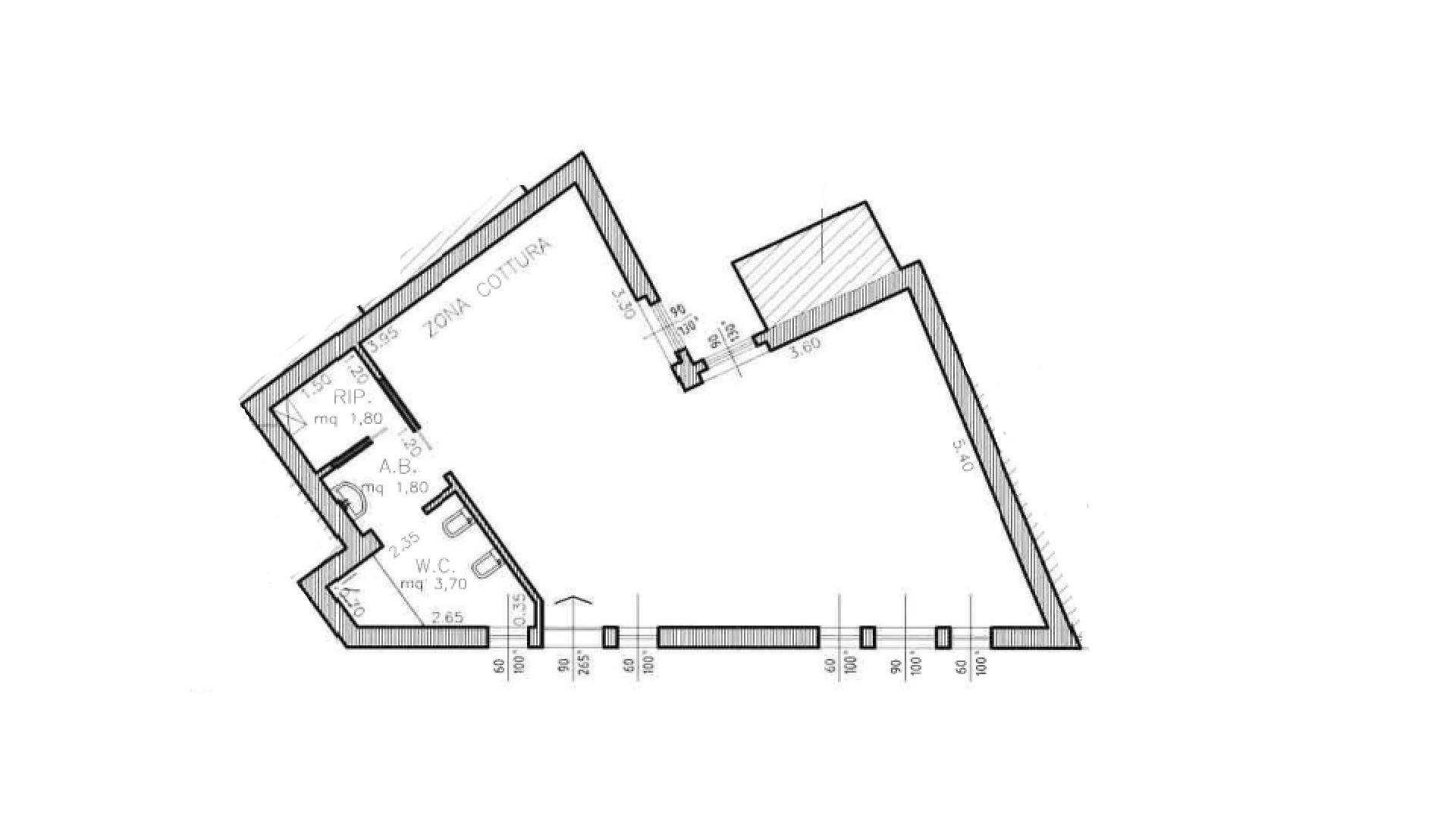 Appartamento in vendita, rif. K140 (Planimetria 1/1)